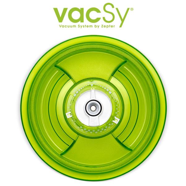 Vacsy glas container 18 cm diameter 1 8 liter deksel