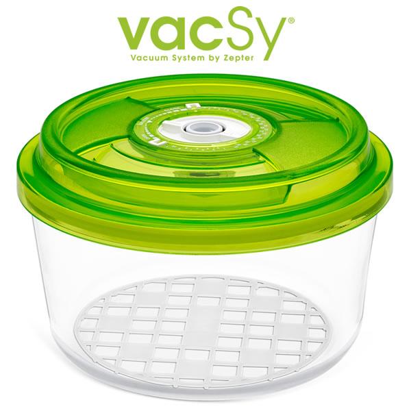 Vacsy glas container 18 cm diameter 1 8 liter