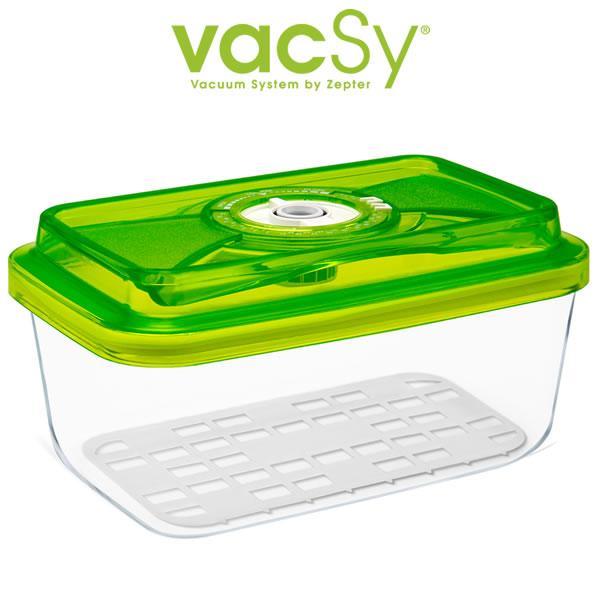 Vacsy glas container 20 x 13 1 5 liter bewaardoos