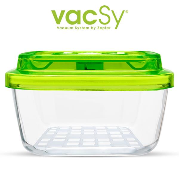 Vacsy glas container 22 x 22 vacuumdoos