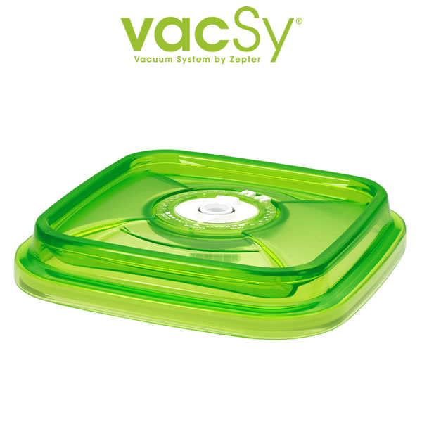 Vacsy glass container 19 x 19 deksel
